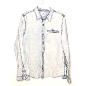 AG Adriano Goldschmied light chambray button down